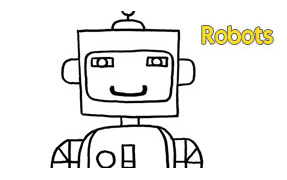 COLORIAGE : Robots
