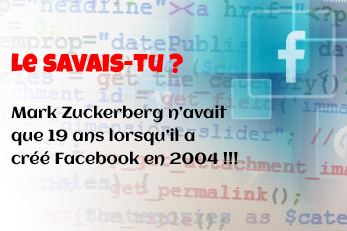 LE SAVAIS-TU ? : L'invention de Facebook