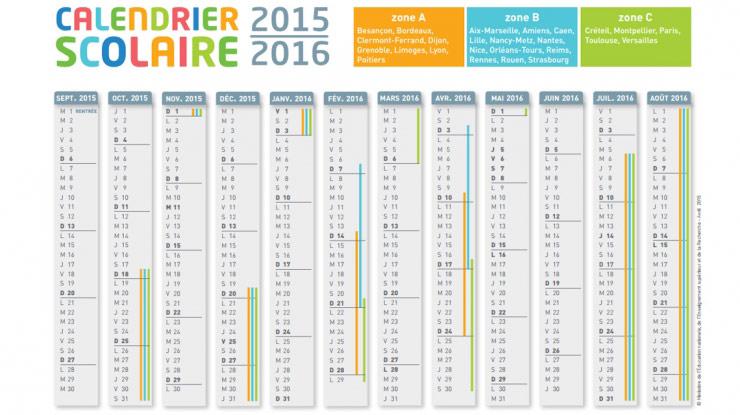 Calendrier scolaire 2015-2016
