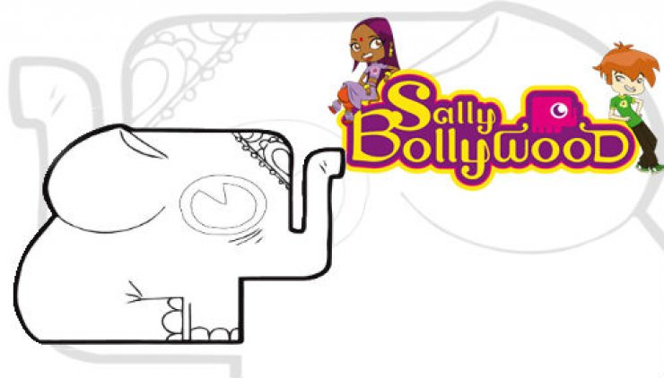 Coloriage Eléphant de Sally Bollywood