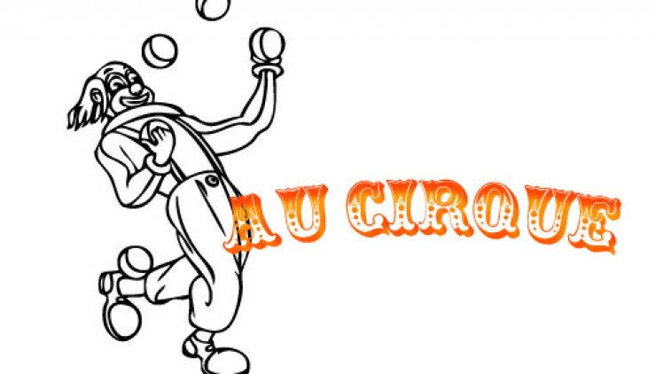 Coloriage d'un clown jongleur