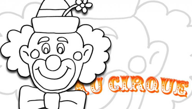 Coloriage tête de Clown