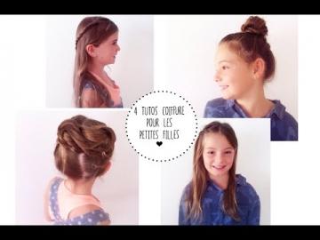 4 tutoriels de coiffures rapides pour les petites filles