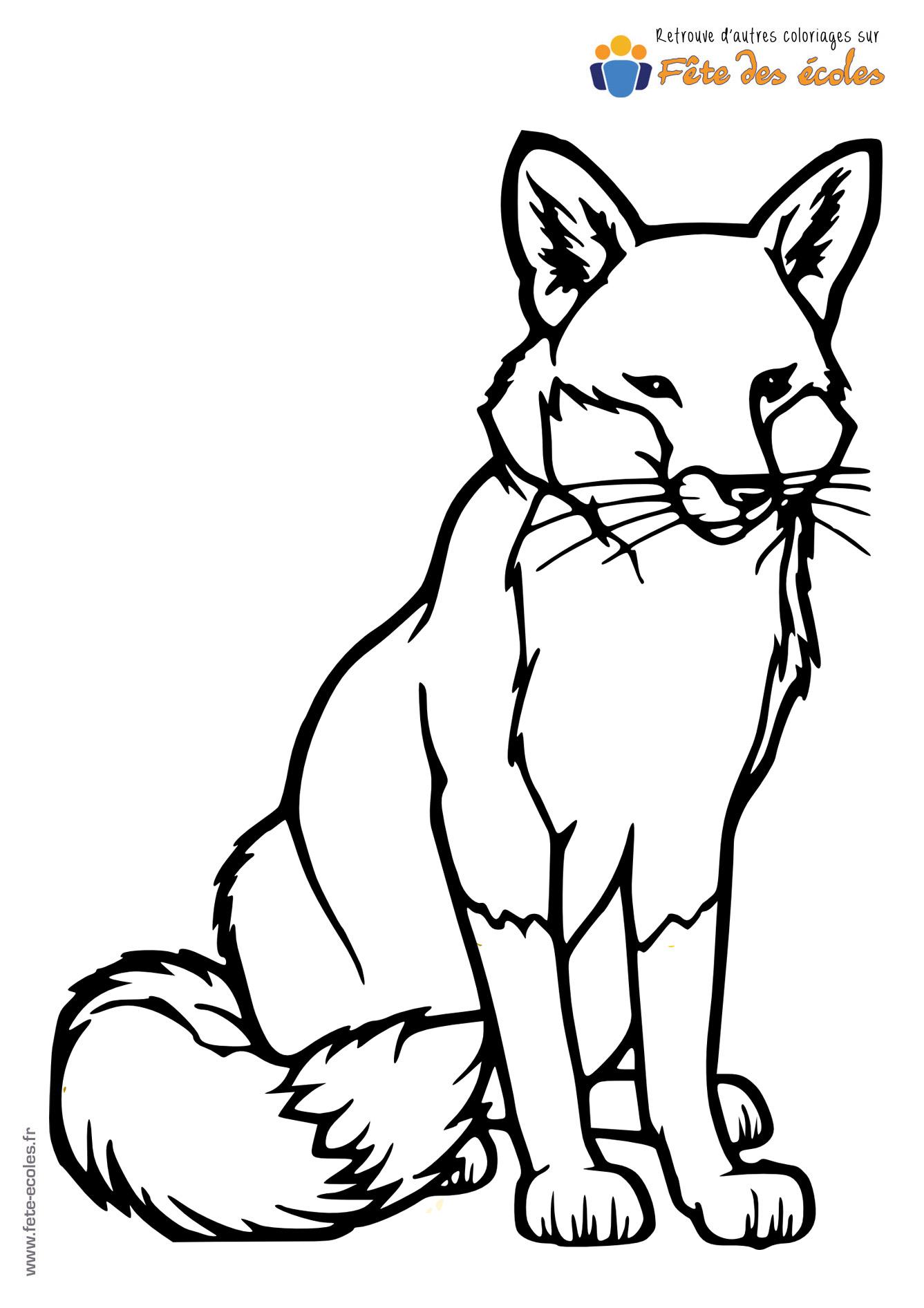 Coloriage d'un renard