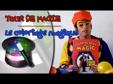 Le coloriage magique : Tour de magie avec le clown Tagada