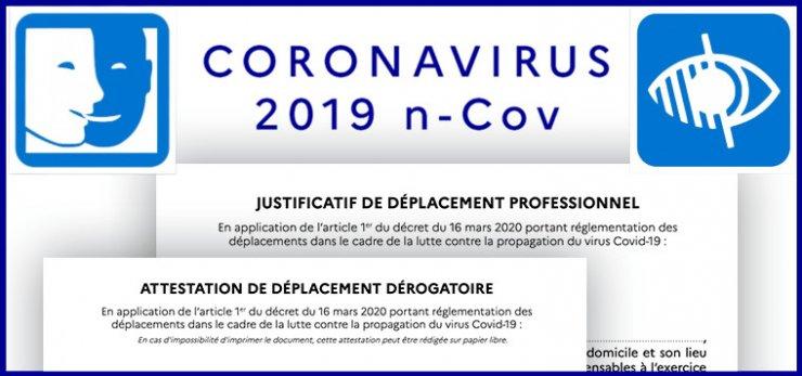Modèle FALC d'attestation de déplacement dérogatoire COVID-19